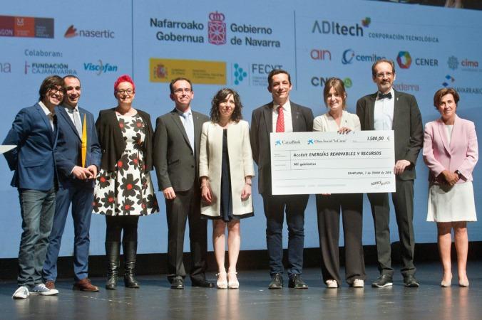 Los galardonados con el accésit de energías renovables.