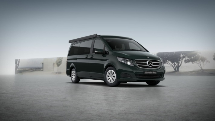 La Mercedes V200 Marco Polo será uno de los vehículos que se usaran en este innovador servicio turístico.