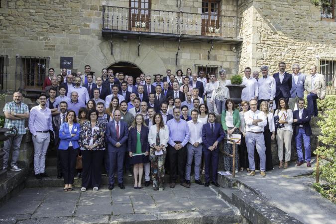Imagen de los asistentes al encuentro celebrado por Sodena con sus empresas apoyadas en el hotel Pamplona El Toro. (FOTOS: Víctor Rodrígo)