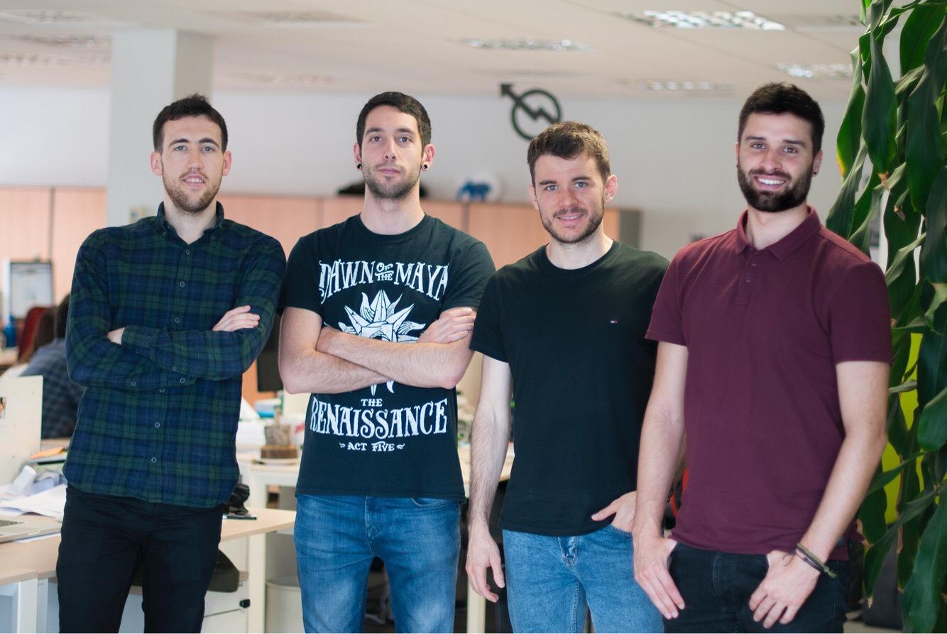 Los integrantes de '540', la empresa organizadora: Pablo Albizu, Mikel Ros, Gorka Moreno e Iker Mariñelarena.
