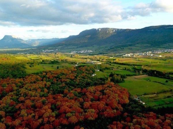 Vista panorámica del Valle de la Burunda, situado en la Sakana.