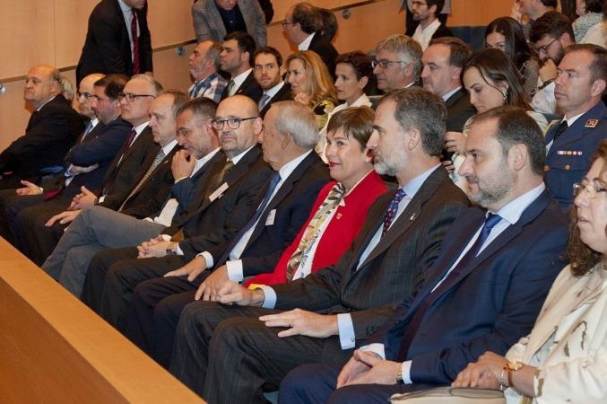 Filas centrales del auditorio de Baluarte, con la presencia de la Presidenta Barkos, el Rey Felipe VI y resto de autoridades