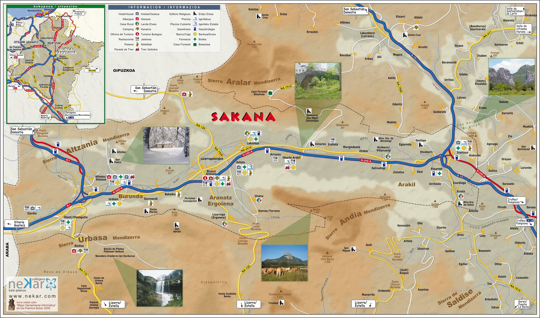 Mapa de la Sakana de la Mancomunidad de la zona.
