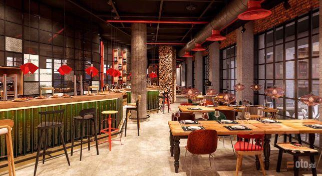 Bar-cafetería dentro del proyecto del hostel Vive Unzu.