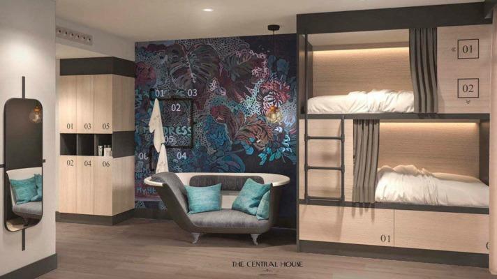 Una habitación del proyecto del hostel Vive Unzu.