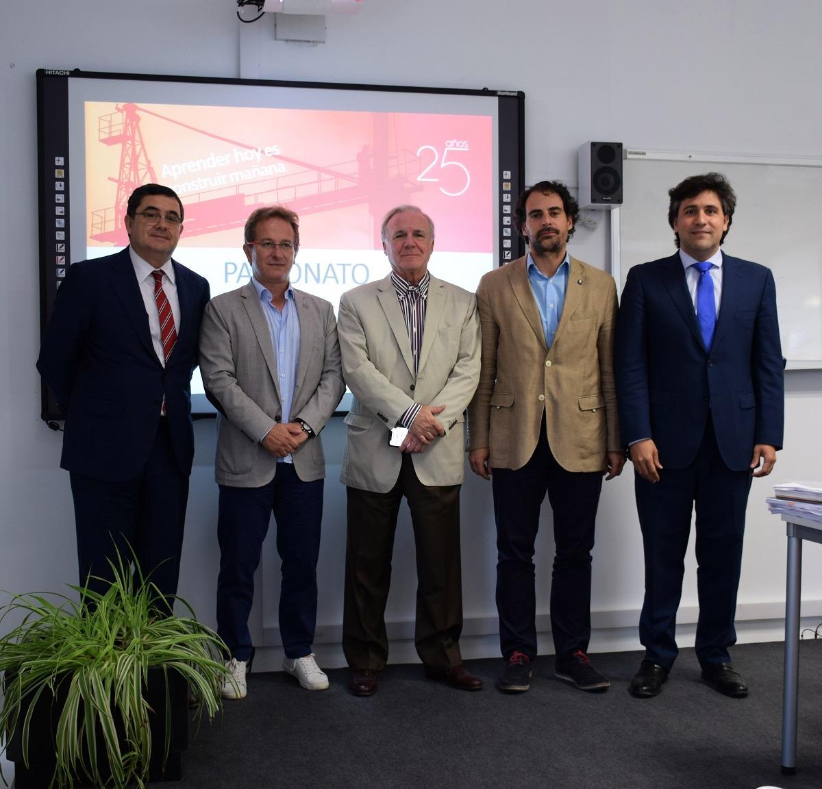 Enrique Corral, Pedro Hojas, Juan Lazcano, Vicente Sánchez y Pedro Fernánez