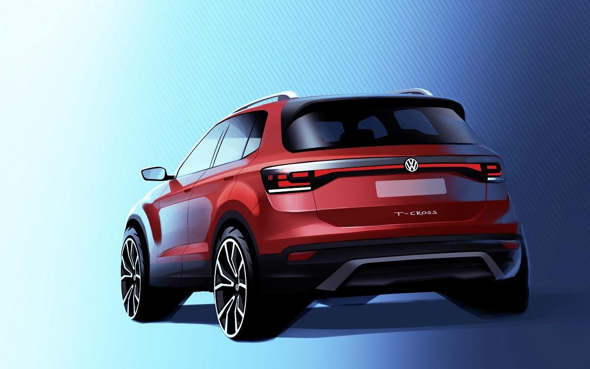 Boceto del nuevo T-Cross que se fabricará en Volkswagen Navarra.