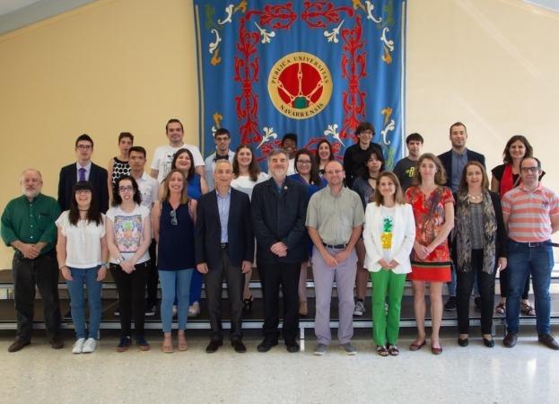 Profesores y alumnos que participaron en el curso 2017-18.
