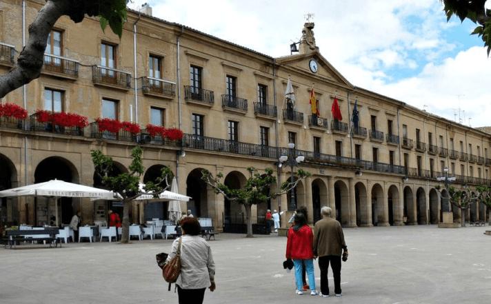 Imagen de la Plaza de los Fueros de Tafalla.