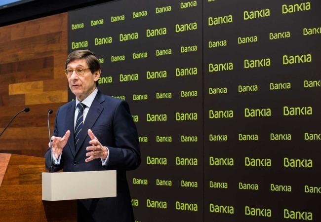 El presidente de Bankia, durante la presentación de resultados del segundo trimestre de su entidad.