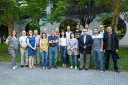 Representantes de todas las universidades y organizaciones que integran el consorcio de este proyecto, en una reunión mantenida en la UPNA.