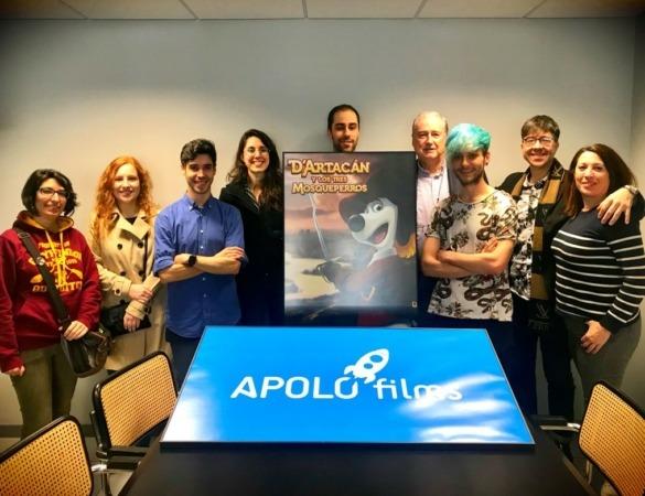 El equipo de Apolo Films, con Claudio Biern (cuarto por la derecha).