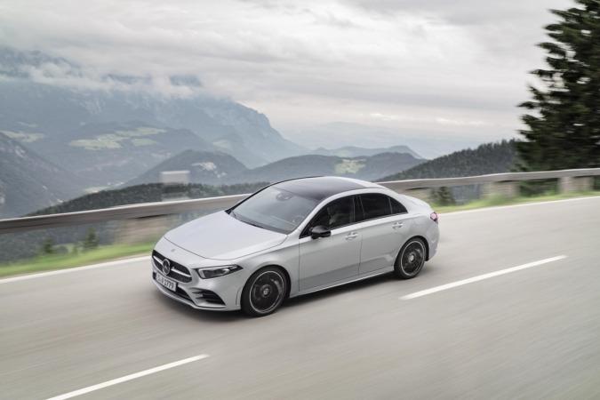 Imagen promocional de la nueva Clase A Sedán de Mercedes Benz