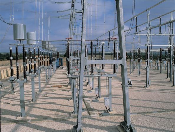 Instalaciones de una subestación eléctrica.