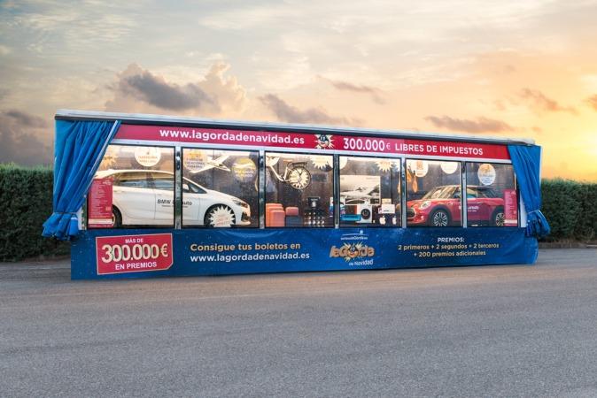 El camión mostrará los premios por diversas ciudades de toda España.