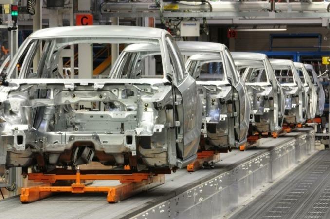 Imagen de la cadena de producción de VW Navarra