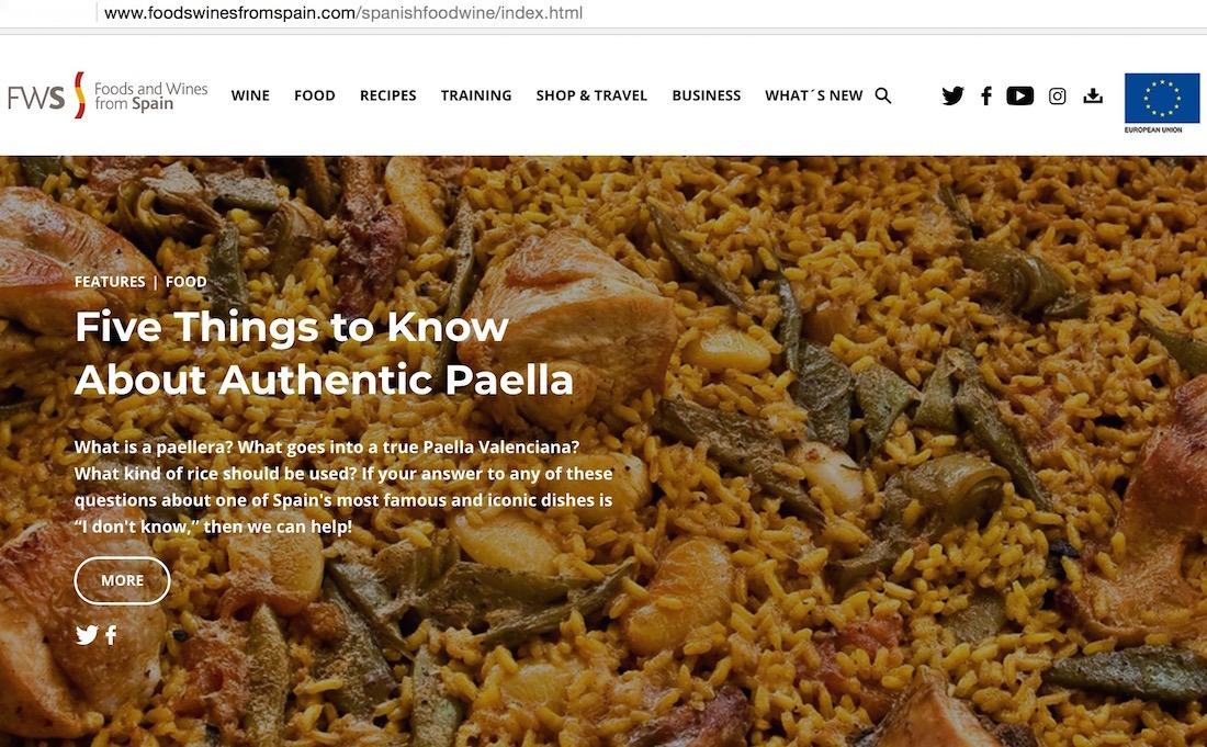 Pantallozo de la web agroalimentaria internacional.