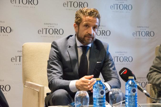 El presidente de Faconauto, Gerardo Pérez Giménez, en un momento de su intervención ante los medios.