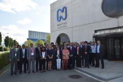 Imagen de la delegación de la India en su visita a Naitec en septiembre.