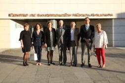 Mª José Calasanz, Ruth Vera, Maite Herráiz, Felipe Prósper, Iosu Ibáñez, Rubén Pío y Ana Patiño, durante la presentación del Proyecto DIANA.