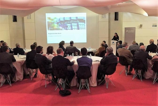 Clientes de banca privada durante una de las sesiones informativas que tuvo lugar hace unas semanas en Pamplona.