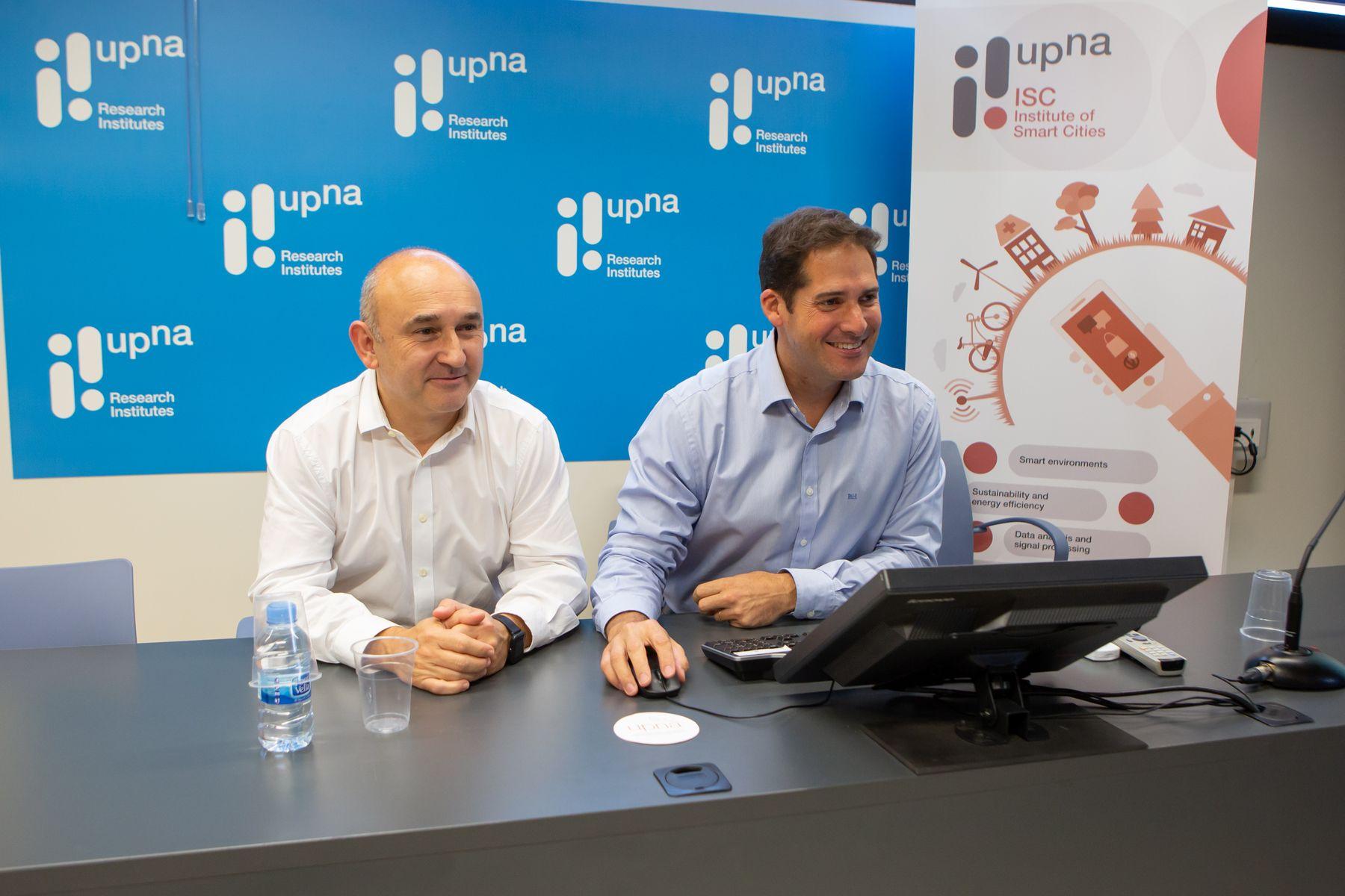 Pablo Branchi e Ignacio R. Matías, investigadores de la UPNA.