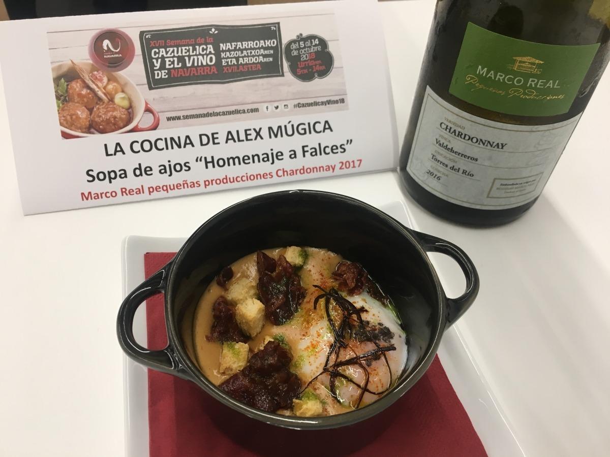 'Sopa de ajo 'Homenaje a Falces' de 'La cocina de Álex Múgica', Premio Plata.