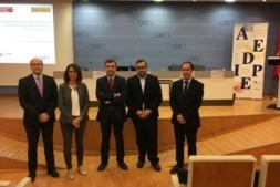 De izquierda a derecha, Carlos Fernández Valdivielso, secretario general de la CEN; Muskilda Pascualena Zabalza, José Manuel Ayesa Villar, Javier Remírez Apesteguía y Fernando Campos Jiménez.