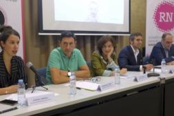De izquierda a derecha, Sandra Jiménez (Diquesí), Juanma Garro (Lacturale),  Mª Luz Murillo (Uvesa),  Rafael Arellano (Apex) e Iñigo Antón (Congelados de Navarra).