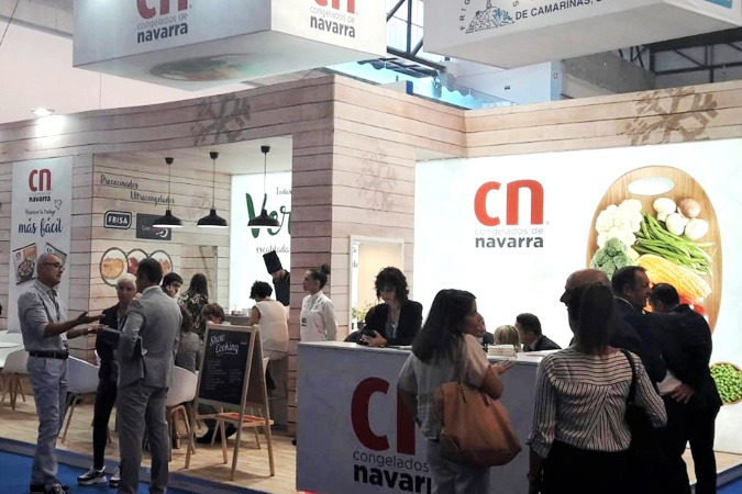 El stand de Congelados de Navarra en la Feria Conexmar de Vigo.