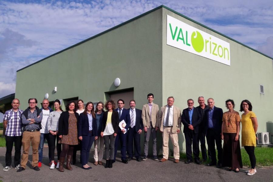 Presentación en Communauté  d'Agglomeration de Sicoval (Región de Occitania), con asistencia de todos los socios del proyecto.  El segundo por la izquierda, Abel Casado, gerente del Consorcio EDER.