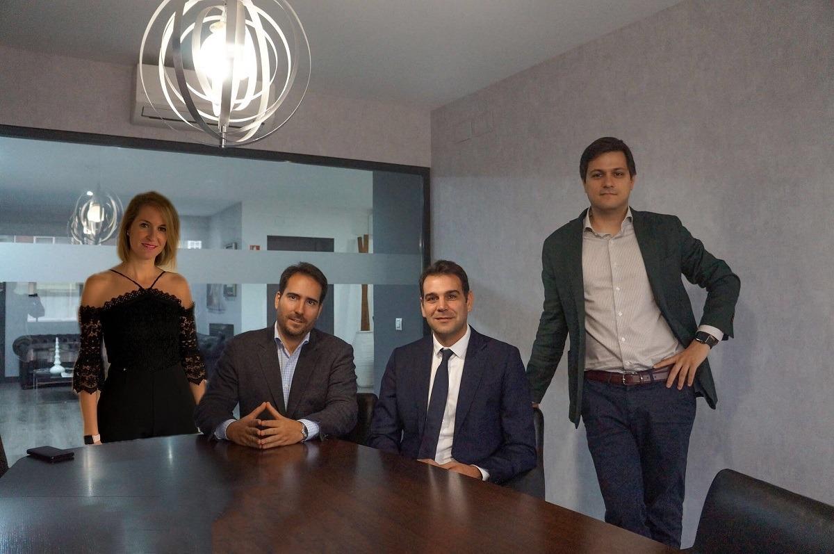 Equipo promotor de la plataforma de Equity Crowdfunding POLO NORTE. De Izquierda a Derecha: Beatriz Andión, Mario Moya, Iñigo Cortaire y Álvaro Berbis de Pedraza.