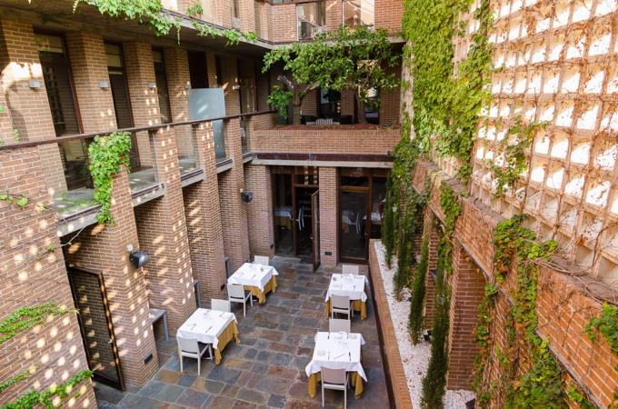 El patio interior es uno de los secretos mejor guardados del hotel.