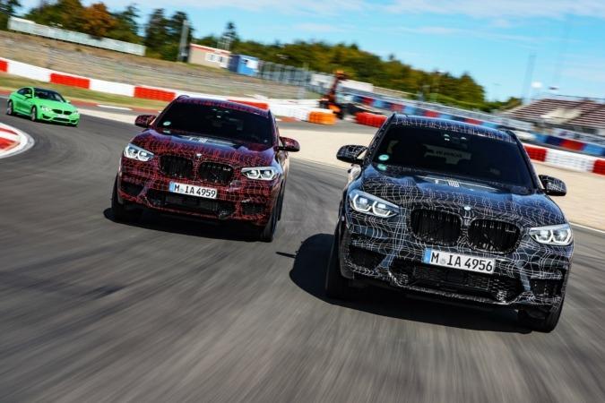 Los nuevos BMW X3 M y BMW X4 M calientan motores en Nürburgring