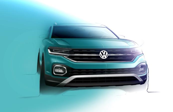 Recreación de parte del lateral delantero del Volkswagen T-Cross que se fabricará, junto al Polo, en Landaben.