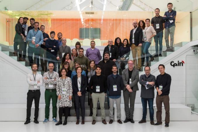 Foto de grupo de los participantes en el Hackaton organizado por CNTA en la sede de CEIN.