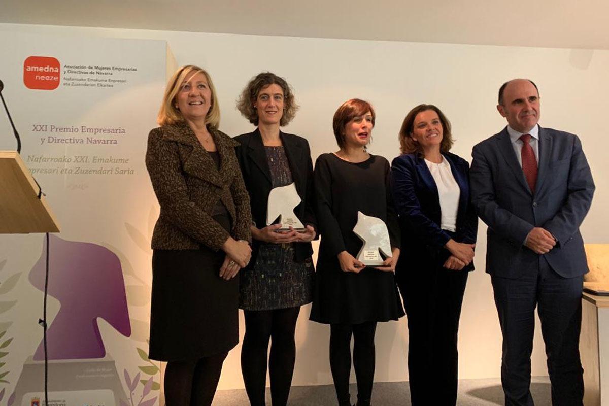 Mª Victoria Vidaurre, Laura Arzoz, Ana Goyén, Ana Díez Fontana y Manu Ayerdi.