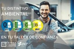 Para obtener el distintivo ambiental hay que presentar el DNI, el permiso de circulación y abonar los 5 euros (IVA incluido) por el servicio en su taller de confianza.