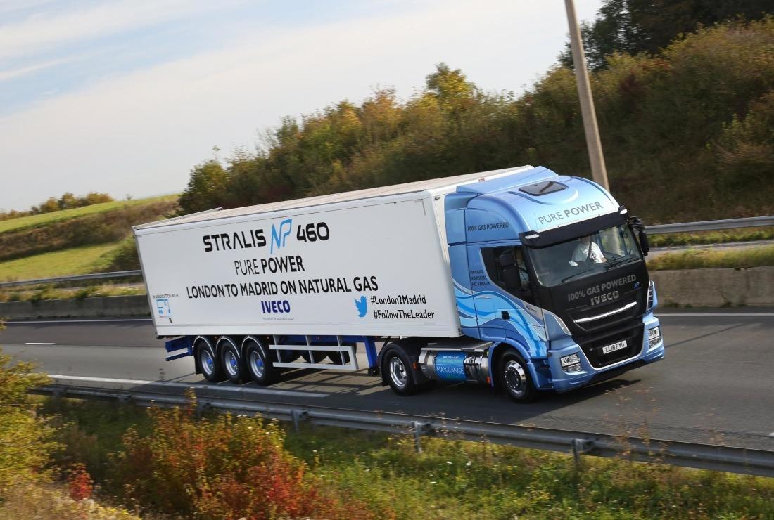 La unidad tractora del modelo Stralis NP 4x2 de 460cv ha viajado desde Londres hasta Madrid sin repostar, gracias a la energía del gas natural.