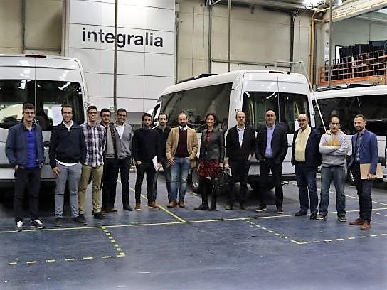 Integrantes de NaVEAC durante su visita a las instalaciones de Integralia.