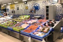 Sección de pescadería de Marcadona.