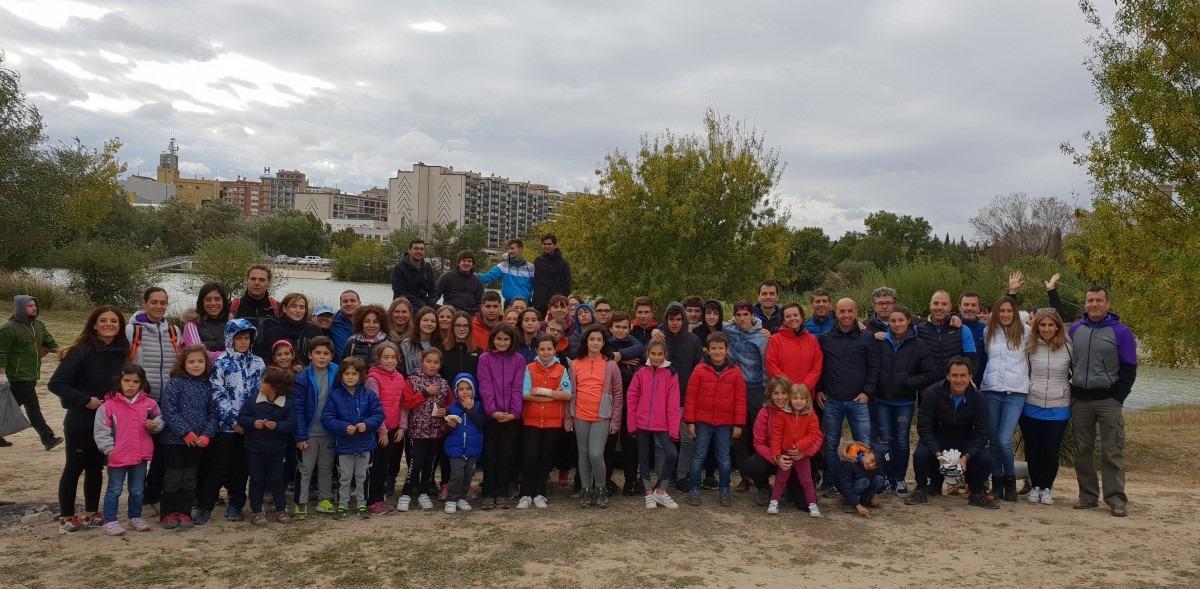 Voluntarios de la Semana Social de CaixaBank en Tudela.