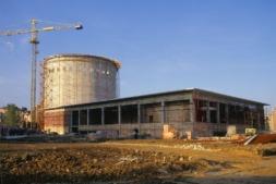El Planetario en construcción. Era el año 1993.