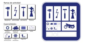 Los talleres legales se distinguen fácilmente por contar con una placa identificativa.