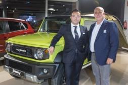 Juan López Frade, presidente de Suzuki Motor Ibérica y Sergio Sola, propietario y gerente de Vian Automobile.