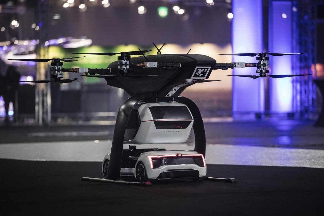 """Imagen del prototipo funcional """"Pop.Up Nex"""" desarrollado por Audi, Airbus e Italdesign."""