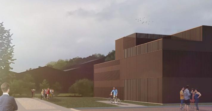 Los platós de cine y televisión se encuentran en plena fase de construcción en el campus de Lekaroz.