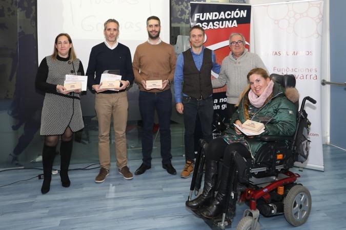 Los premios fueron entregados en la sede de Fundación Osasuna.