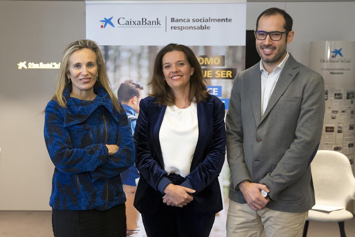 Izaskun Goñi, Ana Díez Fontana y Roberto Díez-Martínez, de Ikan Biotech.