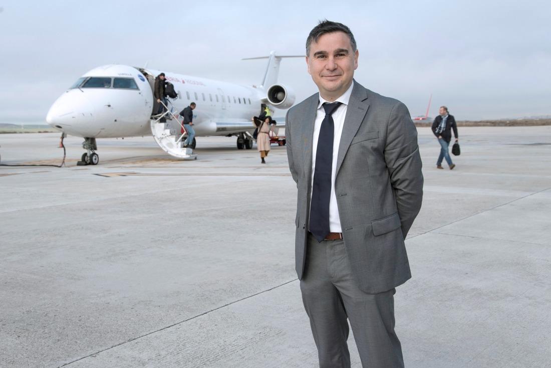 Antonio García, director del Aeropuerto de Pamplona